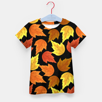 Miniatur Fall Leaves Autumn Season Thanksgiving Halloween Gifts Kid's t-shirt, Live Heroes