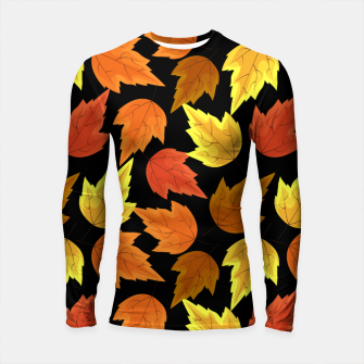 Miniatur Fall Leaves Autumn Season Thanksgiving Halloween Gifts Longsleeve rashguard , Live Heroes