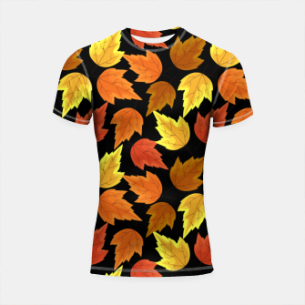 Miniatur Fall Leaves Autumn Season Thanksgiving Halloween Gifts Shortsleeve rashguard, Live Heroes