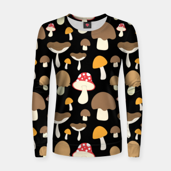 Thumbnail image of Mushroom Types Fungi Foraging Gift Mycology Mycologist Women sweater, Live Heroes