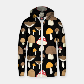 Thumbnail image of Mushroom Types Fungi Foraging Gift Mycology Mycologist Zip up hoodie, Live Heroes