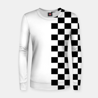 Thumbnail image of Chess Pattern  Women sweater, Live Heroes