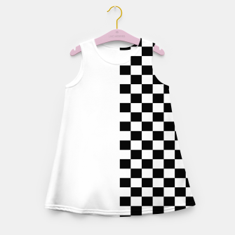 Miniatur Chess Pattern  Girl's summer dress, Live Heroes