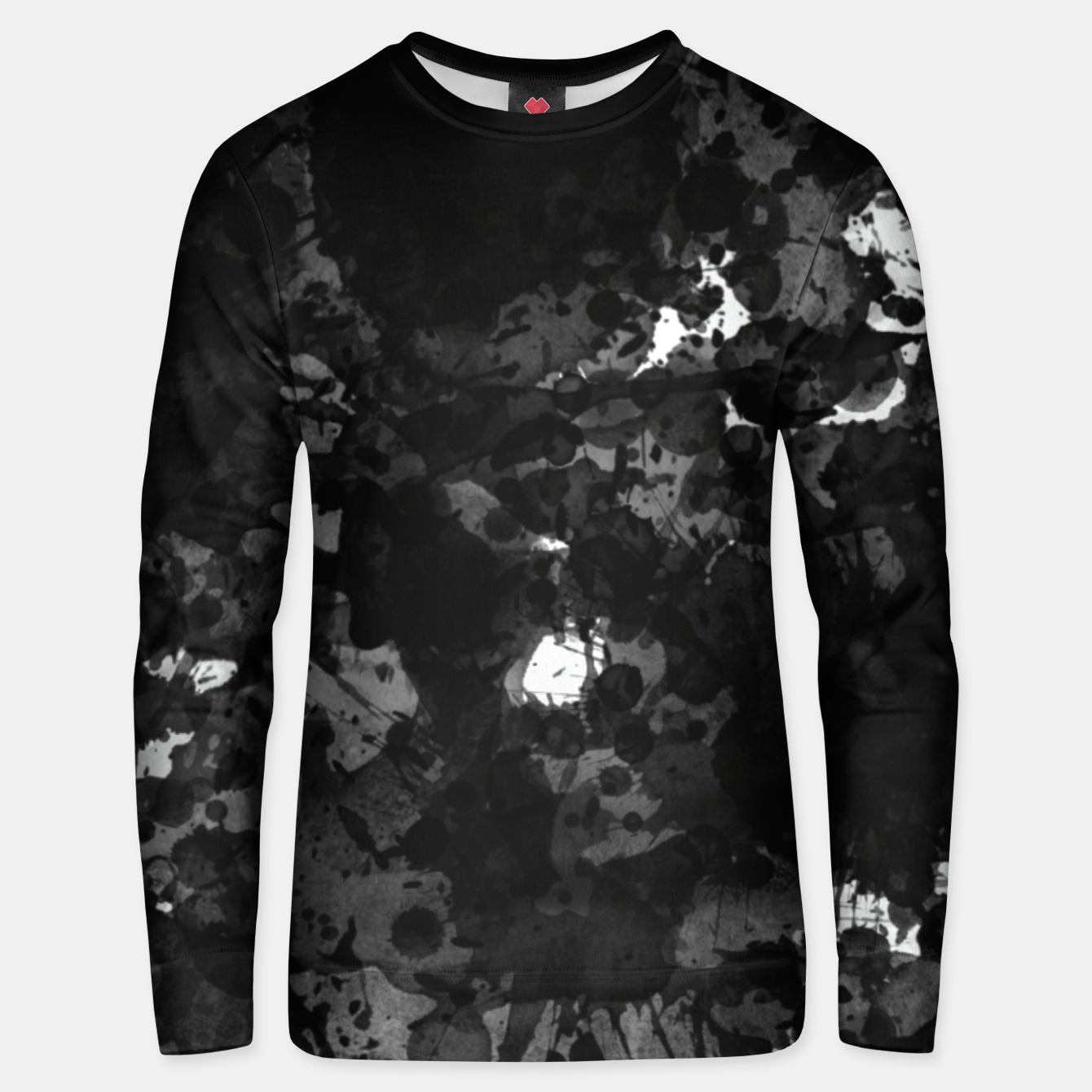 Image of splatter Unisex sweater - Live Heroes