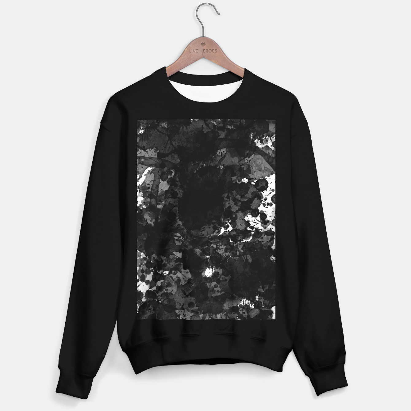 Image of splatter Sweater regular - Live Heroes