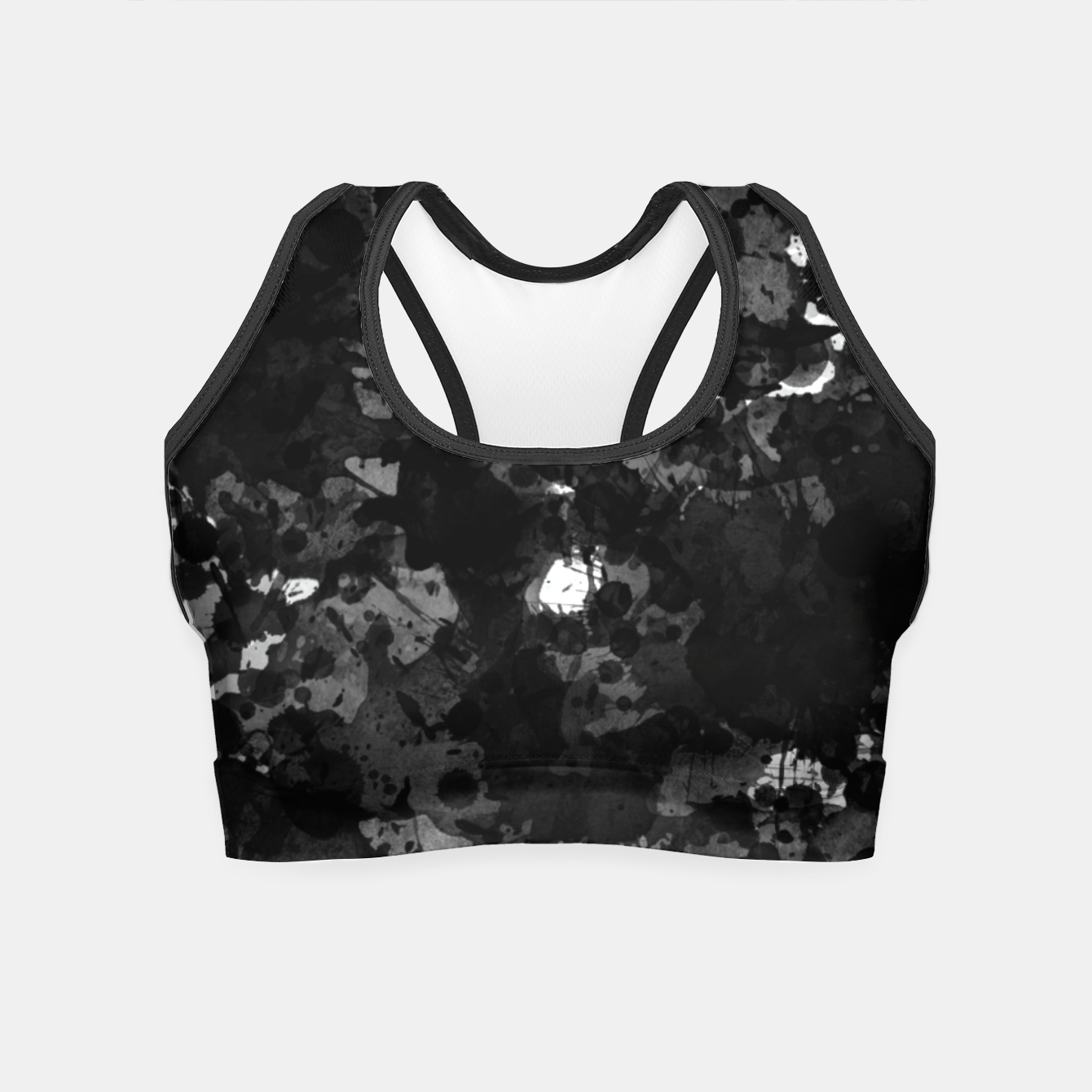 Image of splatter Crop Top - Live Heroes