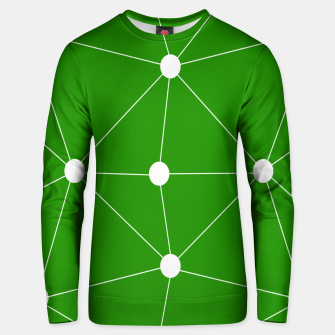 Thumbnail image of Abstract geometric pattern - green and white. Unisex sweater, Live Heroes