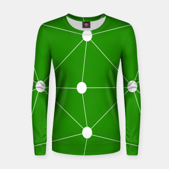 Thumbnail image of Abstract geometric pattern - green and white. Women sweater, Live Heroes