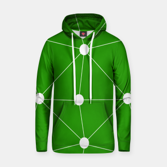 Thumbnail image of Abstract geometric pattern - green and white. Hoodie, Live Heroes