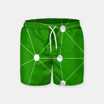 Miniaturka Abstract geometric pattern - green and white. Swim Shorts, Live Heroes