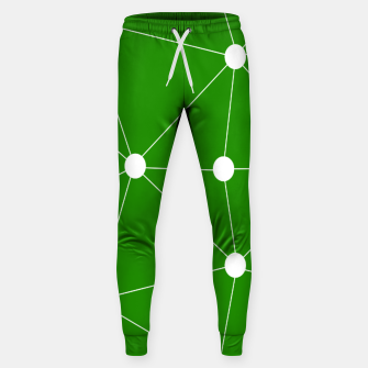 Thumbnail image of Abstract geometric pattern - green and white. Sweatpants, Live Heroes