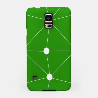 Miniaturka Abstract geometric pattern - green and white. Samsung Case, Live Heroes