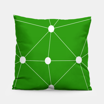 Thumbnail image of Abstract geometric pattern - green and white. Pillow, Live Heroes