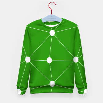 Thumbnail image of Abstract geometric pattern - green and white. Kid's sweater, Live Heroes