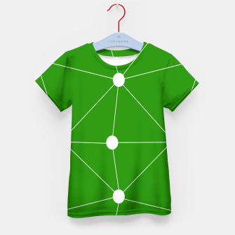 Miniaturka Abstract geometric pattern - green and white. Kid's t-shirt, Live Heroes