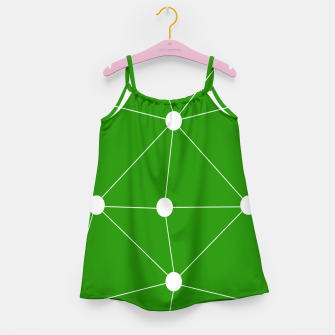 Miniaturka Abstract geometric pattern - green and white. Girl's dress, Live Heroes