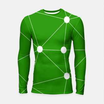 Thumbnail image of Abstract geometric pattern - green and white. Longsleeve rashguard , Live Heroes