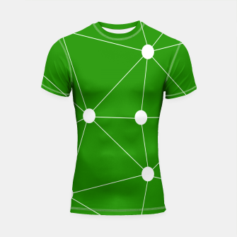 Thumbnail image of Abstract geometric pattern - green and white. Shortsleeve rashguard, Live Heroes