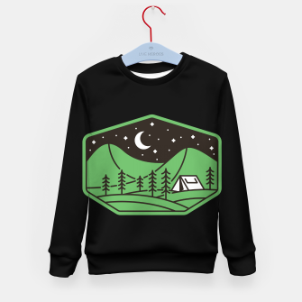 Thumbnail image of Green Camp Kid's sweater, Live Heroes