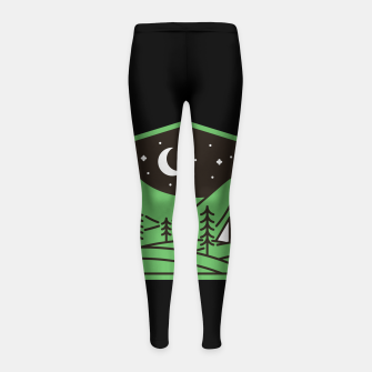Thumbnail image of Green Camp Girl's leggings, Live Heroes