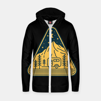 Thumbnail image of Stay and Relax Zip up hoodie, Live Heroes