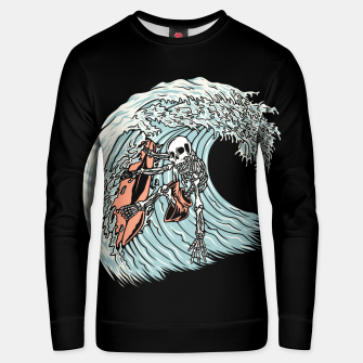 Thumbnail image of Death Surfer Unisex sweater, Live Heroes