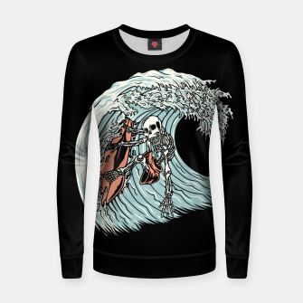 Thumbnail image of Death Surfer Women sweater, Live Heroes