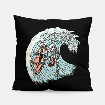 Thumbnail image of Death Surfer Pillow, Live Heroes