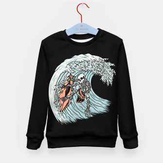 Thumbnail image of Death Surfer Kid's sweater, Live Heroes