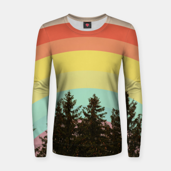 Thumbnail image of Forest rainbow Women sweater, Live Heroes