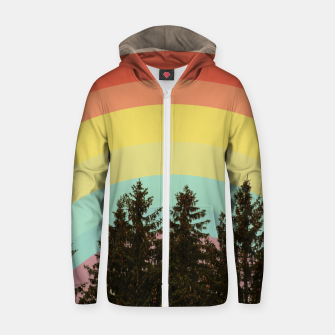 Miniature de image de Forest rainbow Zip up hoodie, Live Heroes