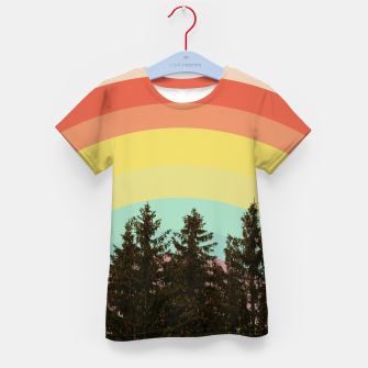 Thumbnail image of Forest rainbow Kid's t-shirt, Live Heroes