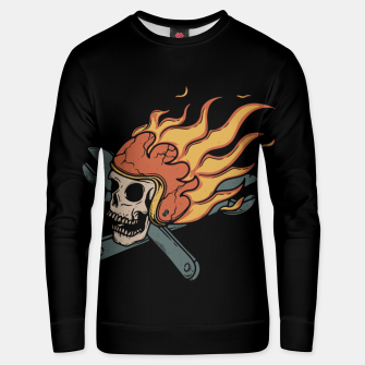 Thumbnail image of Rider and Fire Unisex sweater, Live Heroes