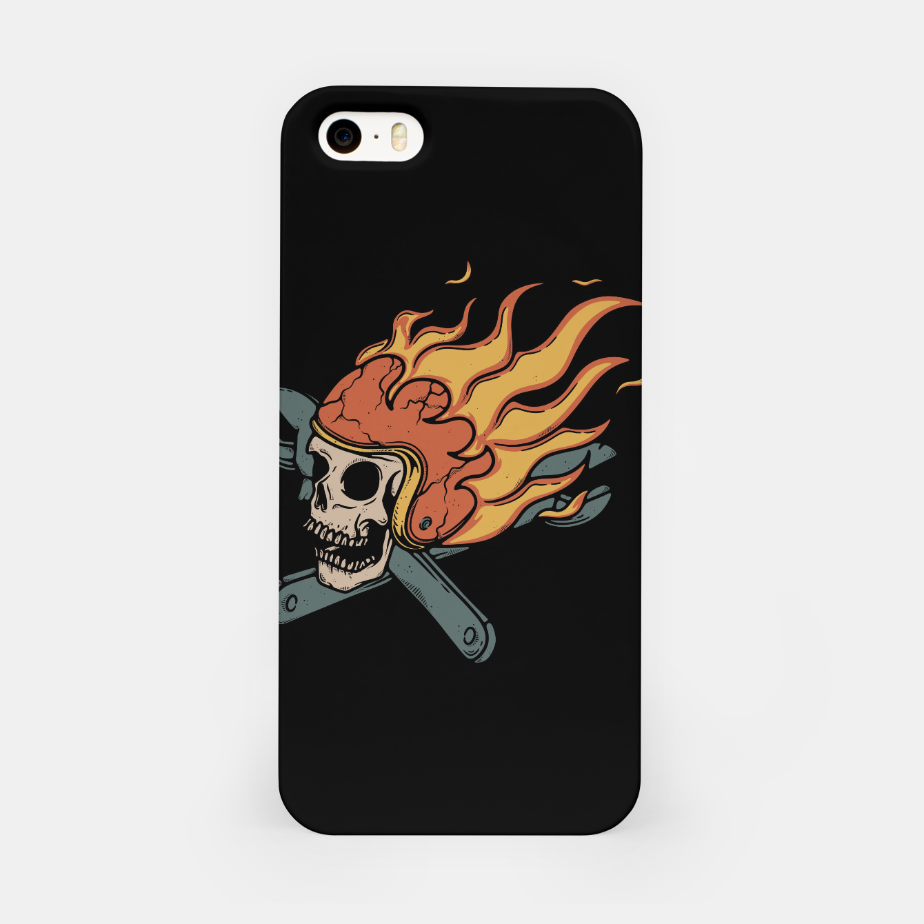 Foto Rider and Fire iPhone Case - Live Heroes