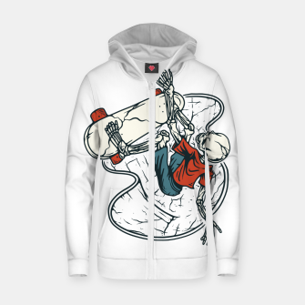 Thumbnail image of Go Skateboarding Zip up hoodie, Live Heroes