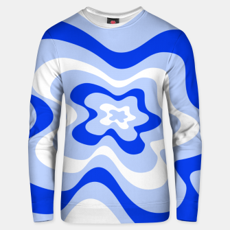 Miniaturka Abstract pattern - blue and white. Unisex sweater, Live Heroes