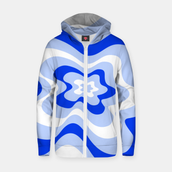Miniaturka Abstract pattern - blue and white. Zip up hoodie, Live Heroes