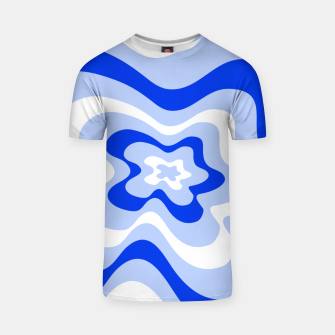 Miniaturka Abstract pattern - blue and white. T-shirt, Live Heroes