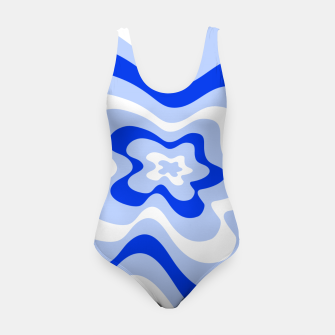 Miniaturka Abstract pattern - blue and white. Swimsuit, Live Heroes