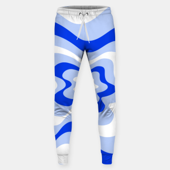 Miniaturka Abstract pattern - blue and white. Sweatpants, Live Heroes