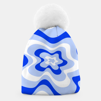 Miniaturka Abstract pattern - blue and white. Beanie, Live Heroes