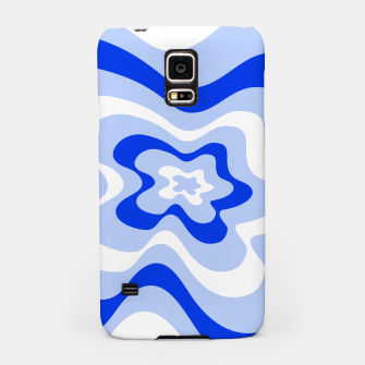Miniaturka Abstract pattern - blue and white. Samsung Case, Live Heroes