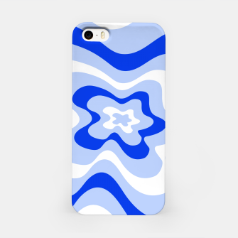 Thumbnail image of Abstract pattern - blue and white. iPhone Case, Live Heroes