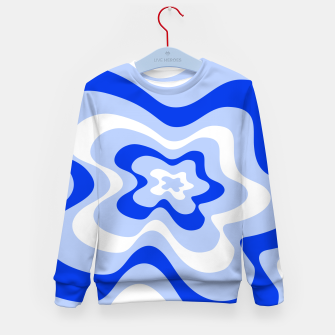 Miniaturka Abstract pattern - blue and white. Kid's sweater, Live Heroes