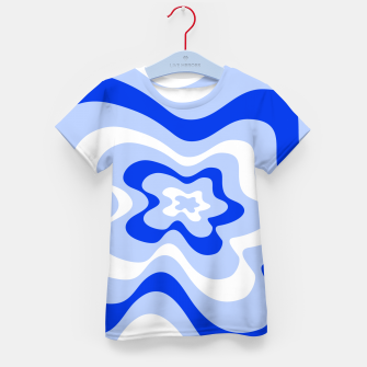Miniaturka Abstract pattern - blue and white. Kid's t-shirt, Live Heroes