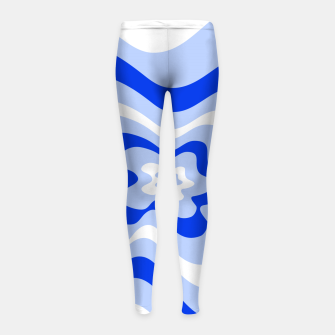 Thumbnail image of Abstract pattern - blue and white. Girl's leggings, Live Heroes