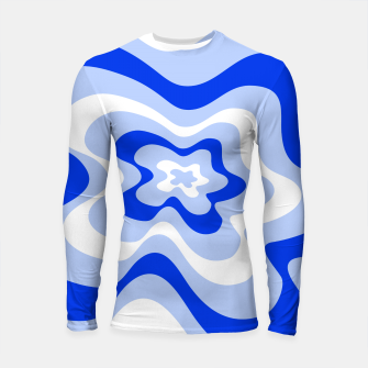Thumbnail image of Abstract pattern - blue and white. Longsleeve rashguard , Live Heroes