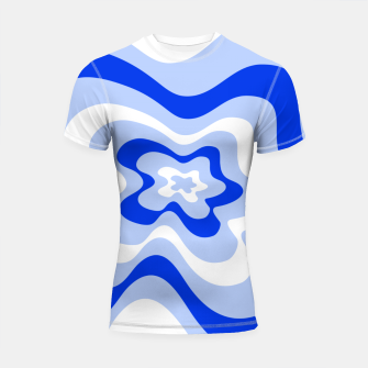 Miniaturka Abstract pattern - blue and white. Shortsleeve rashguard, Live Heroes