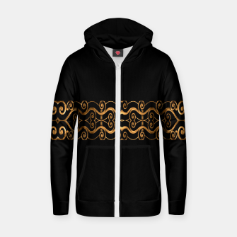 Miniaturka Luxury Ornate Minimal Style Dark Print Zip up hoodie, Live Heroes