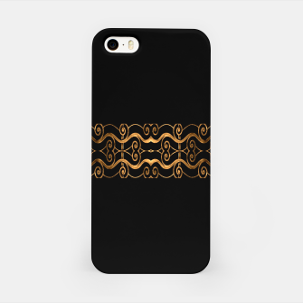 Thumbnail image of Luxury Ornate Minimal Style Dark Print iPhone Case, Live Heroes